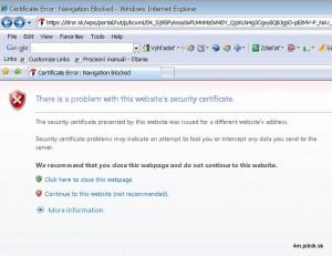 drsr.sk - certifikat error